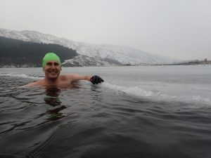 Winter Swimming in Ice